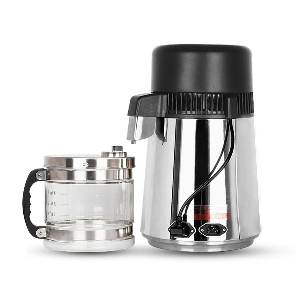 Бытовой дистиллятор 4L дистиллированной воды машина перегонки Очиститель фильтр Нержавеющаясталь зубные Лаборатория Фильтр для воды