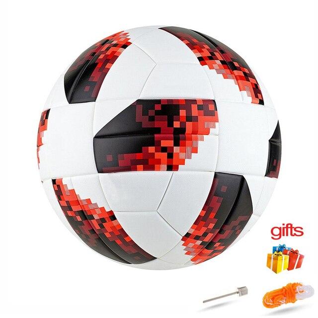 Rusia talla 5 Fútbol Premier sin costuras balón de fútbol equipo de gol entrenamiento pelotas Liga Fútbol bola con bomba de regalo