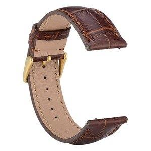 Image 2 - WOCCI Bracelet montre en cuir véritable, 18mm 20mm 22mm, Bracelet de montre, accessoires pour montre intelligente, élégant, hommes femmes