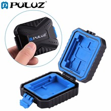 PULUZ 11 in 1 Waterproof Memory /SD Card Case Storage Box for 3SIM + 2XQD + 2CF + 2TF + 2SD Card