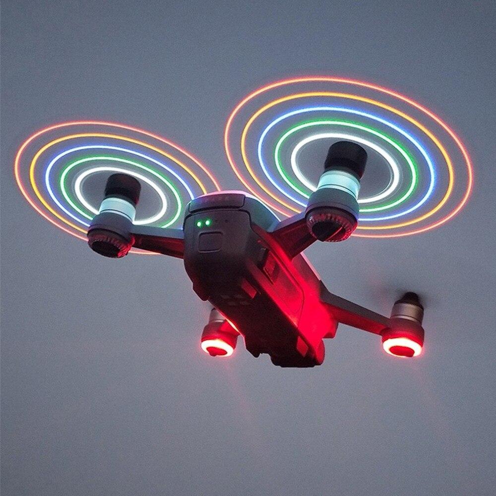 2 pares Flash LED liberación rápida 4730 CW CCW hélices apoyos repuestos para DJI Spark RC Drone