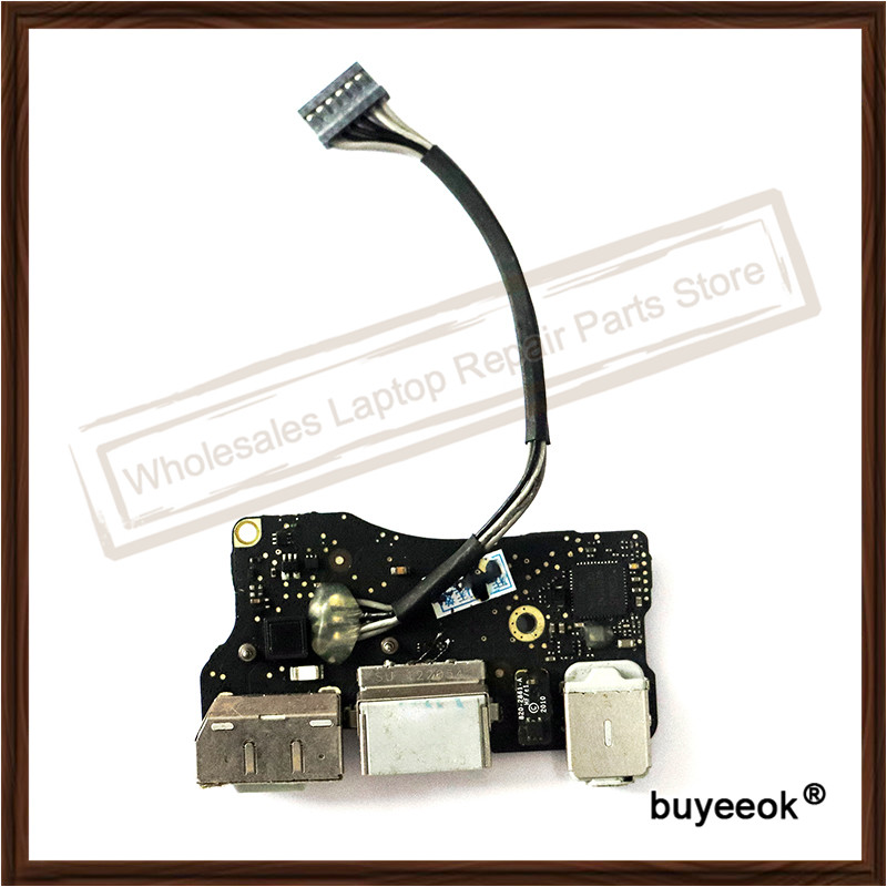 Laptop Repair Parts For Apple Macbook Air A1466 A1369 I/O DC audio jack Power Board Power Panel Replacement 2011 Year original for magsafe dc jack for apple macbook air 11 a1465 usb audio power board 820 3213 a 2012 year md223 md224