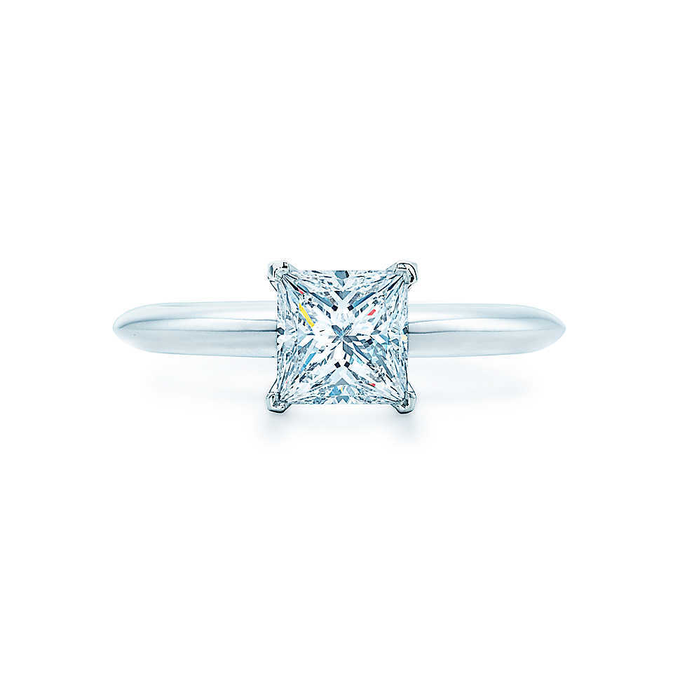 Threeman New Arrival 2ct Princess Cut Synthetic Diamonds Engagement Ring  For Women Solitaire Solid White Gold