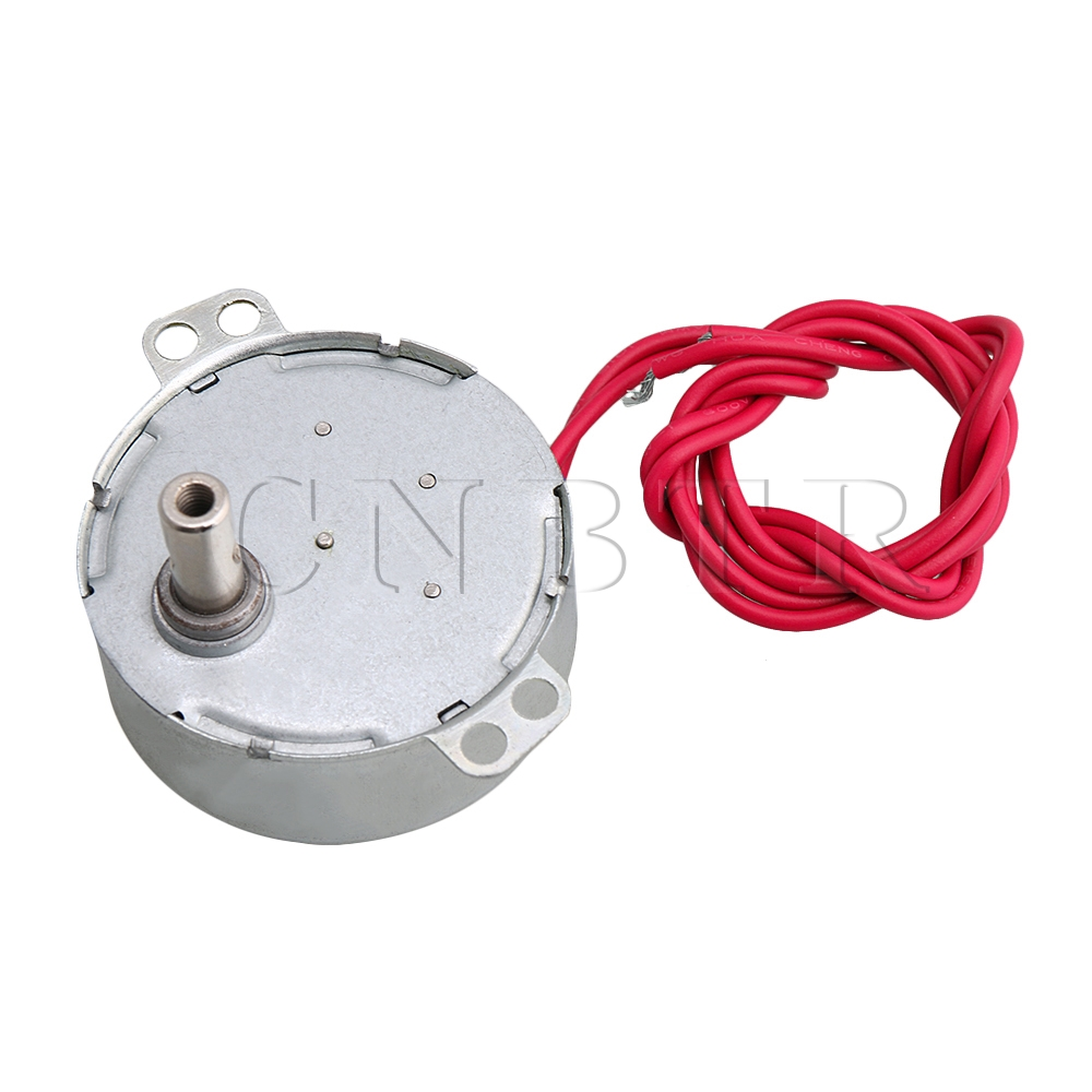 CNBTR Synchronous Motor AC 5V 0.8-1RPM CW/CCW Turntable Gear Box for Turntable Motor of Display Stand Microwave Oven microwave accessories microwave glass turntable microwave stand synchronous motor revolutions core bobbin gm accessories