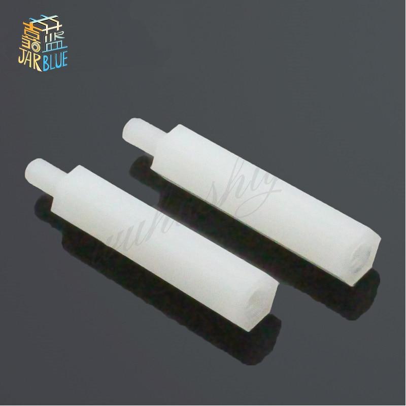 50Pcs M2/M2.5/M3/M4+6mm Thread White Spacing Screw For PCB Board Fixed Nylon Standoff Spacer Pillar m