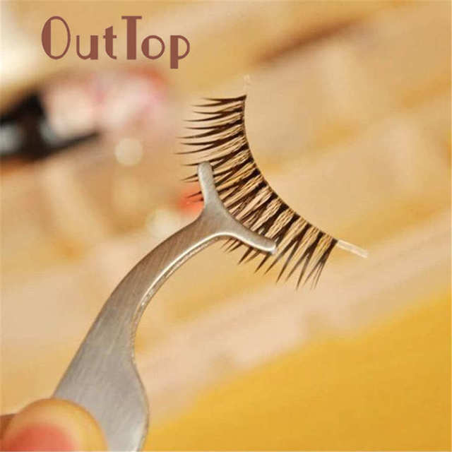 OutTop False Eyelashes Tools Multifunctional False Eyelashes Aid Stainless Steel Clip Forceps O12 Drop Shipping Jun7 HW