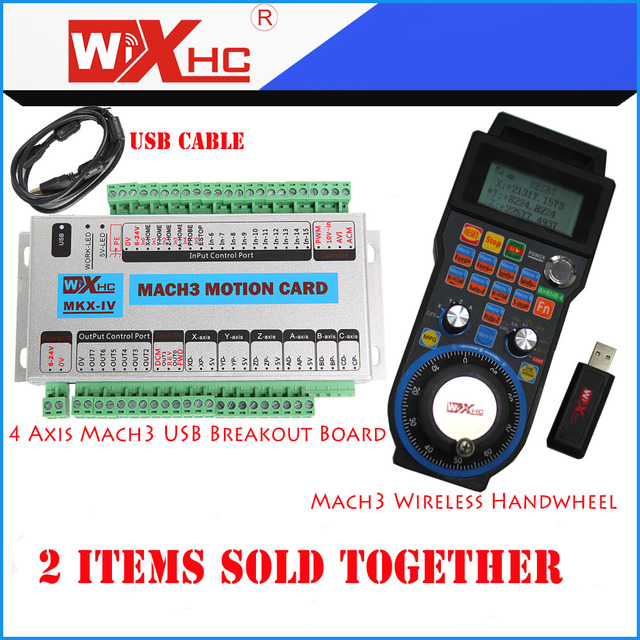 Xhc 4 axis mach3 breakout board and wireless handwheel pendant xhc 4 axis mach3 breakout board and wireless handwheel pendant whb04b 4 sold together with aloadofball Images