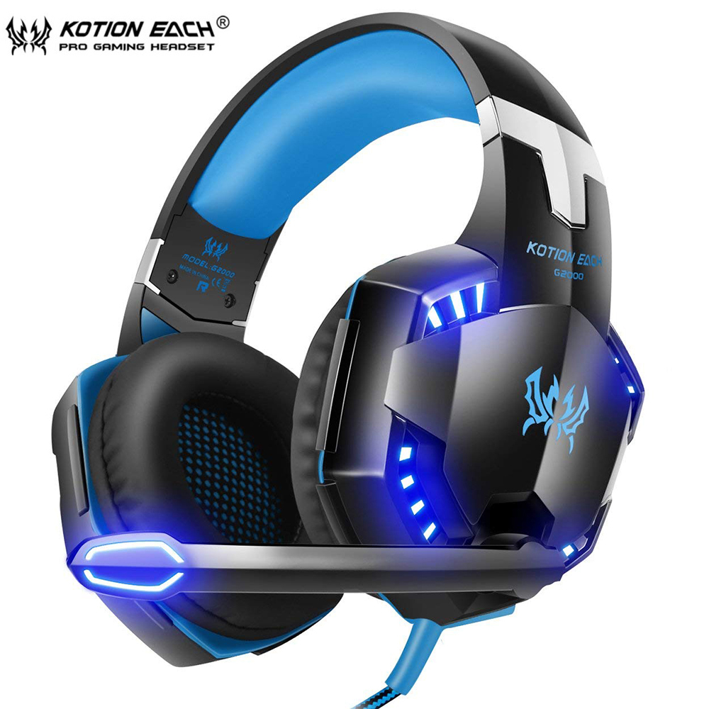 KOTION EACH Series Gaming Headset G2000/G2100/G2200/G4000/G9000 Deep Bass Stereo Headphones with mic 2.2M Wired Earphone for PC kotion each series gaming headset g2000 g2100 g2200 g4000 g9000 deep bass stereo headphones with mic 2 2m wired earphone for pc