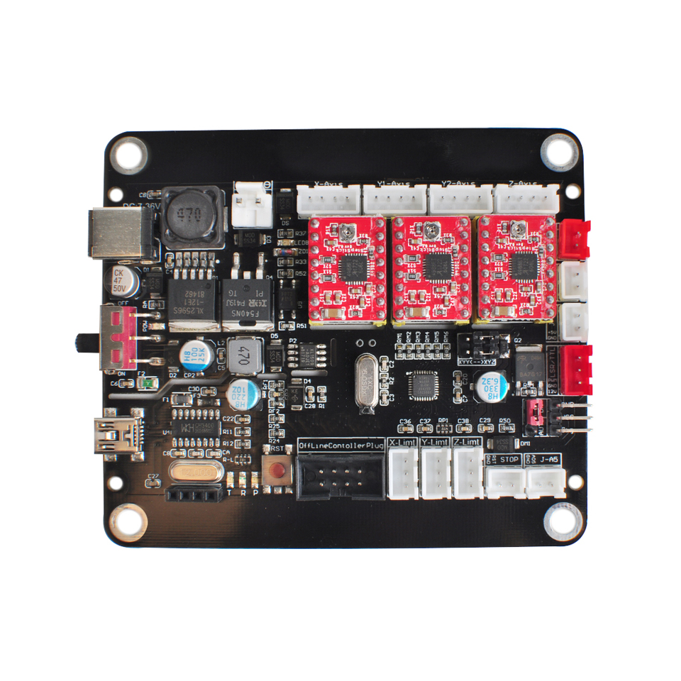 New 3 Axis Controller CNC Control USB Board Double Y Axis Board With GRBL Control For 3018/2418/1610 Laser Engraver Machine