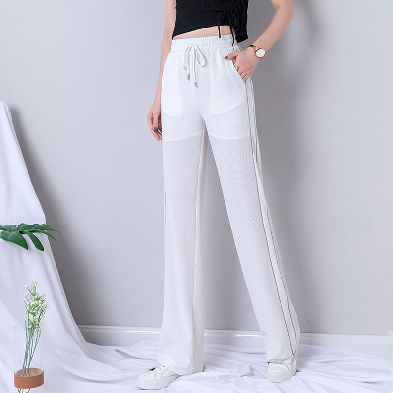White Wide Leg Pants Women 2019 Summer High Waist Plus Size Full Length Korean Streetwear Trousers Women Harajuku Palazzo Pants