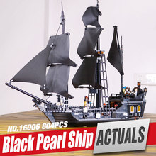 LEPIN 16006 Pirates of the Caribbean The Black Pearl Building Blocks Set Minifigures Compatible with legoe 4184
