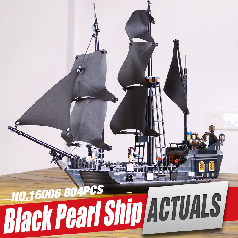 LEPIN 16006 Pirates of the Caribbean The Black Pearl Building Blocks Set Compatible with 4184