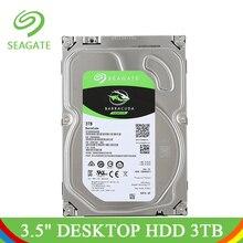 Seagate 3 ТБ Desktop HDD внутренний жесткий диск Оригинал 3,5 »3 ТБ 5400 об./мин. SATA 6 ГБ/сек. жесткий диск для компьютера ST3000DM007