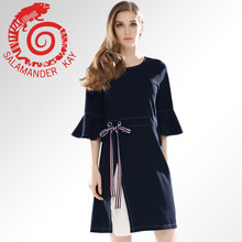 ФОТО women dress for summer and spring casual slim elegant solid o neck horn sleeve fashion sexy luxury comfortable ventilation s