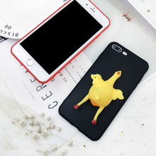 Phone Case For iPhone 6 6S 7 Plus Funny Egg Laying Chicken