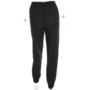 Image 5 - Weekeep Women High Waist Patchwork Pants Black Pencil Pants Streetwear Cargo Pants Loose Jogger Trousers Women 2019 Sweatpants