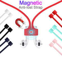 For AirPods Strap Magnetic Anti-lost Neck Cord for Apple Wireless Earphone Holder Sport Magnet Headphone for Earpods Accessory(China)