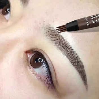 5 Color Eyes Makeup Eyebrow Pencil Liquid Tattoo Brow Pen Waterproof Natural Black Brown Tint Microblading 4 Tip Eye Brows