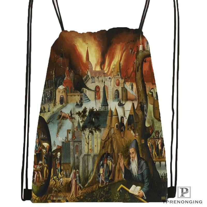 Custom Temptation Drawstring Backpack Bag for Man Woman Cute Daypack Kids Satchel Black Back 31x40cm 180531