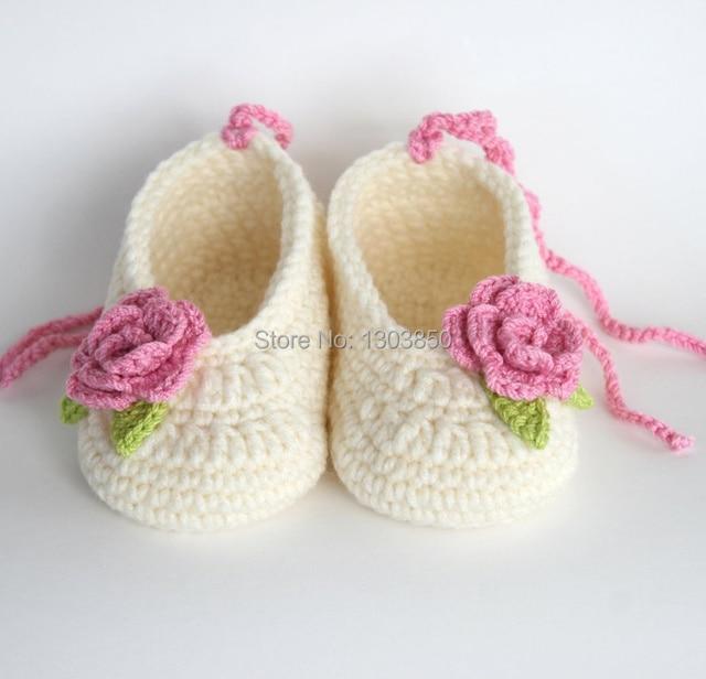 Bebé Bootieshandmade zapatos del ganchillo del bebé bebé botines del ...