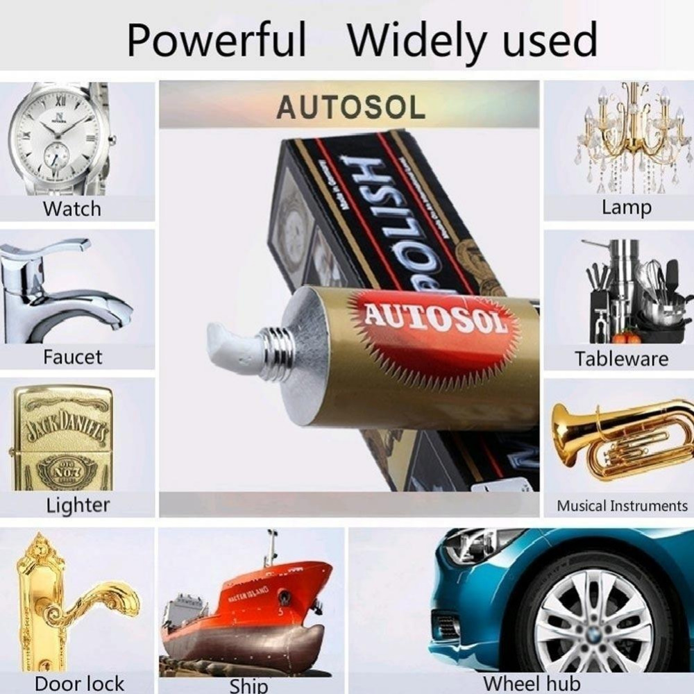 New 1PC 75ml 100g Autosol Cream Knife Machine Polishing Wax Mirror Metal Stainless Steel Watch Polishing Paste