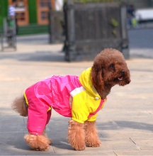 Dog clothes raincoat Tactic puppy pet clothes in spring and summer wear new dog legs hooded raincoat