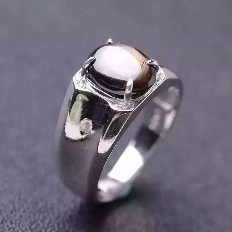 af6e1910089f6 Natural star sapphire stone Ring 925 sterling silver Natural 9*11mm ...