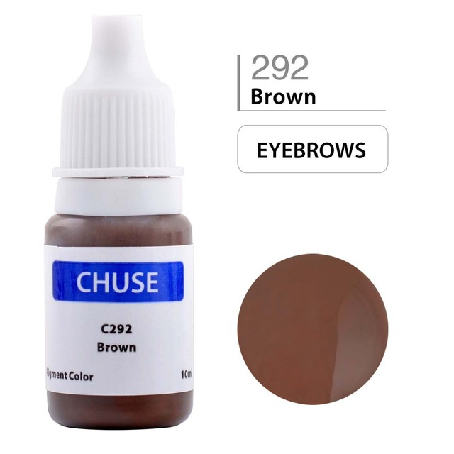 CHUSE Semi-Semi Permanent Makeup Tattoo Pigment C292 Micro Pigment Color for Eyebrow&Eyebrow Shaded Cosmetic Brown Ink