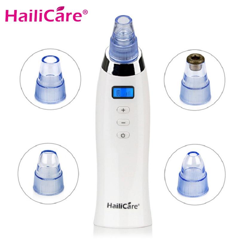 Skin Care Pore Vacuum Blackhead Remover Acne Pimple Removal Vacuum Suction Tool Face Clean Facial Diamond Dermabrasion Machine Зубная щётка