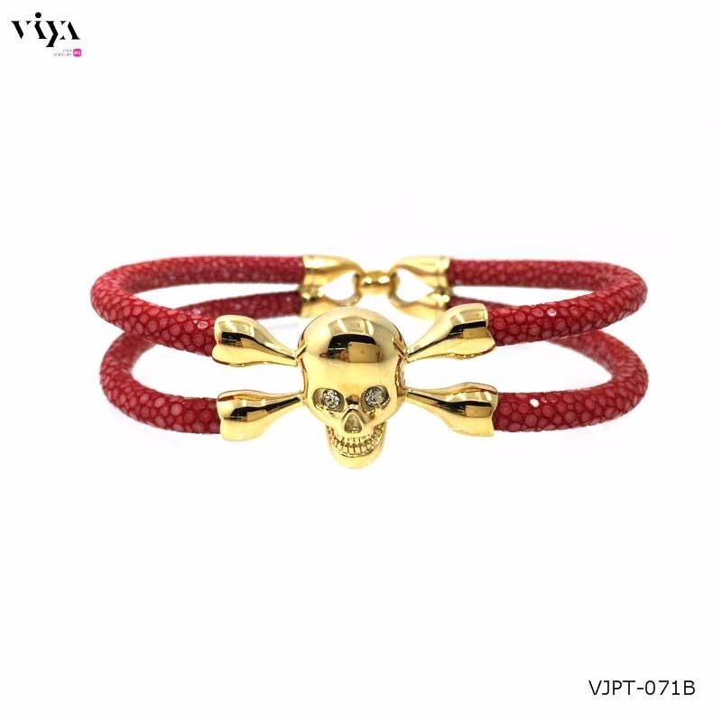 genuine-red-stingray-leather-+-18-k-gold-skull-(1)