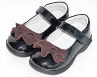 Ragazze shoes torna a scuola toddler shoes nero studente shoes patent pu piede largo sandq baby nuovo