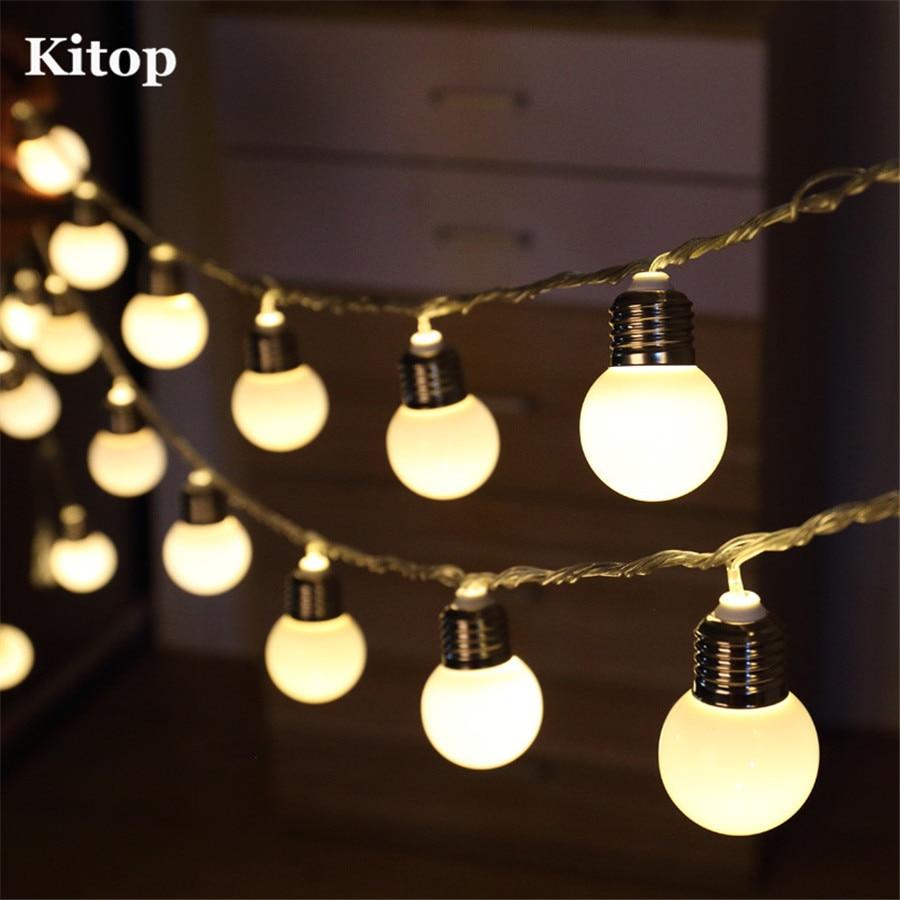 Indoor globe string lights - Kitop 8 Modes Solar Led Globe Ball String Lights Indoor Outdoor Decoration Waterproof Starry Lighting