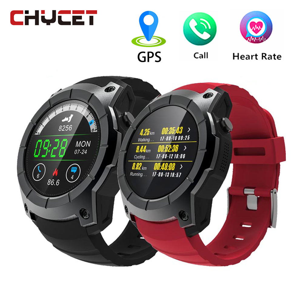Chycet Smart Watches GPS watch Pedometer Smartwatch GPS watch running S958 Support SIM TF Card Heart Rate Sports Wristwatch children s smart watch with gps camera pedometer sos emergency wristwatch sim card smartwatch for ios android support english e