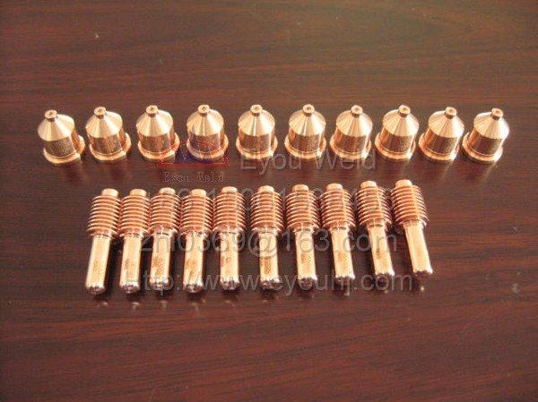 100 pcs 60A Consumables Nozzle 120926 Electrode 120931 1650 Plasma Cutting Machine PMX1650 for T100 T100M