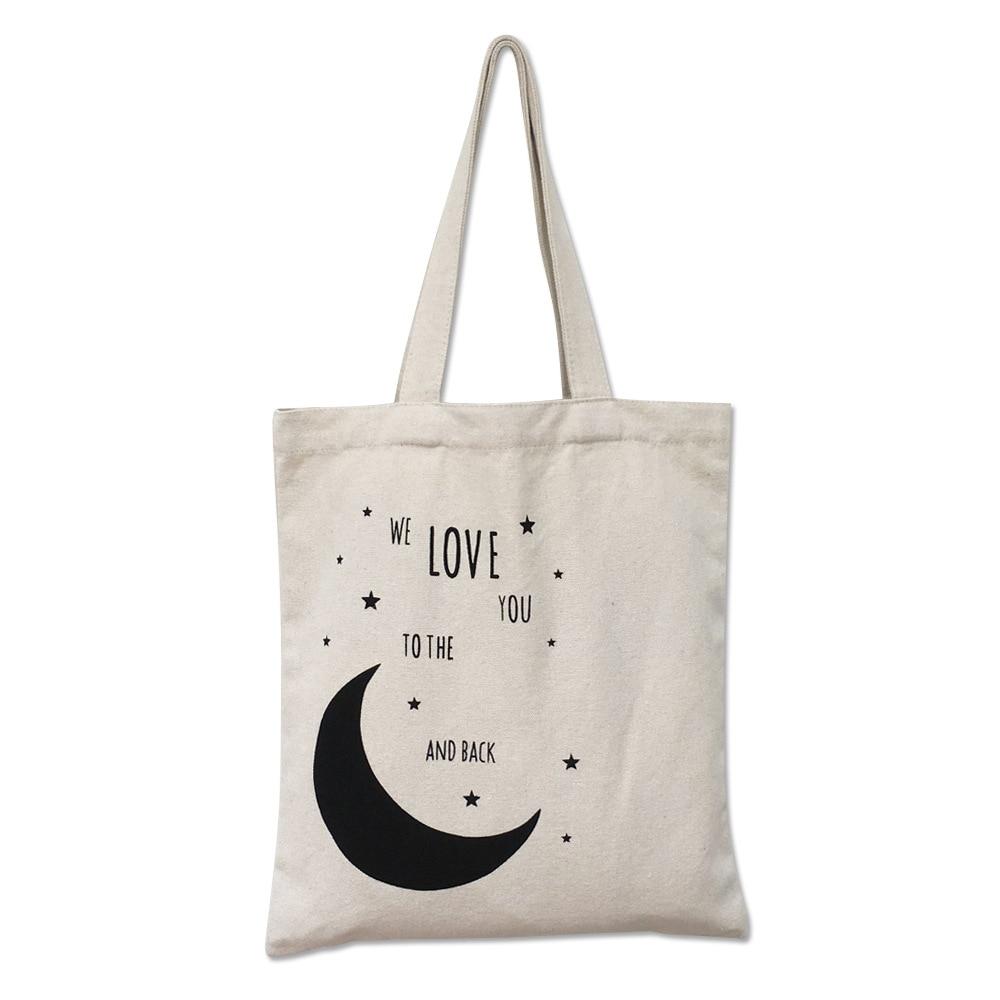 女性キャンバストートバッグ簡潔な手紙印刷ショルダー布バッグ女性デューティコットンショッピングバッグ小さな新鮮なドロップシッピングトートバッグ