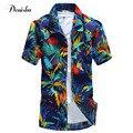 SUPERIOR de Tamaño Grande Con Estilo de Lujo de Manga Corta Para Hombre Camisas de Vestir nueva Flor Hombres Camisa Casual Primavera Verano hombres Top Hawaiano camisa