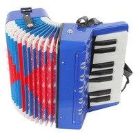 IRIN Mini 17 Chave de 8 Baixo Acordeão Instrumento de Música para Crianças/Crianças Brinquedo de Presente