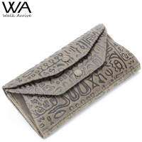 Walk Arrive Genuine Leather Women Wallet Embossed Leather Lady S Long Clutch With High Capacity Girl