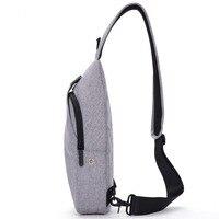 Nylon imperméable toile sling bag cross body alligator lunettes poche jacquard hommes poitrine sac homme épaule sling sac