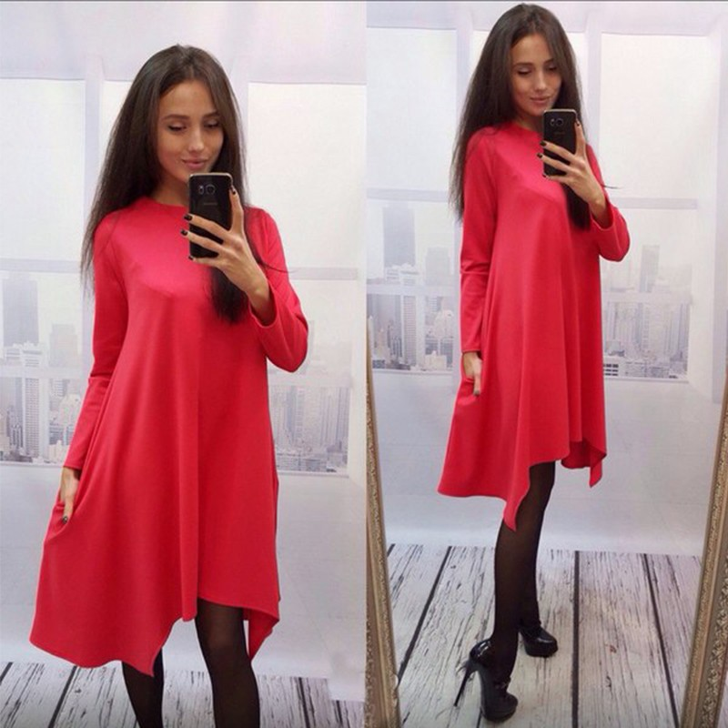 Loose Knee Length Dress