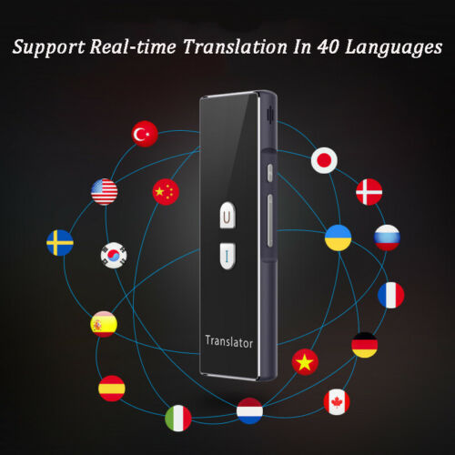 2-Way Portable Smart Voice Translator Instant 40Language Bluetooth Real-timeTranslation Learning Travel Business Text translator image