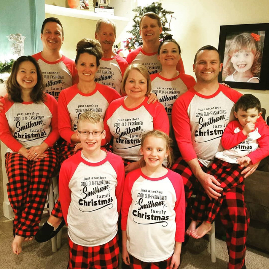 Famity Christmas, Family Costumes, Christmas Cookies Cotton Jersey Matching Family Pajamas, Red, Plaid Matching Pajamas