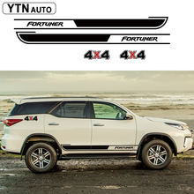 car stickers 4PC 4x4 fortuner styling side door graphic vinyl cool modified accessories decal custom for toyota FORTUNER