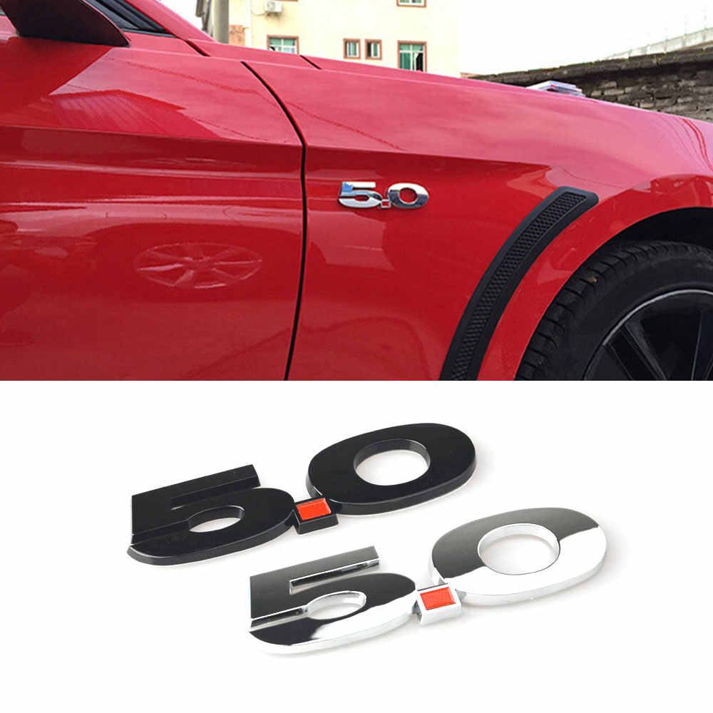 3D 5.0 Emblem Universal Badge Logo Car Body Side Fender Trim Sticker voor Ford Mustang 2015 2016 2017 Alle Auto