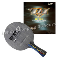 Pro Table Tennis PingPong Combo Racket DHS POWER.G13 PG13 PG.13 PG 13 Blade with 2x RITC 729 General Rubbers Long shakehand FL