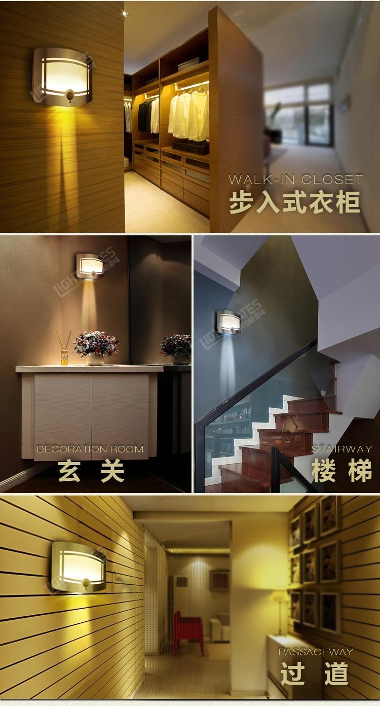 LED gecə işığı Parlaq Motion Sensor enerji qənaət edən - Daxili işıqlandırma - Fotoqrafiya 6