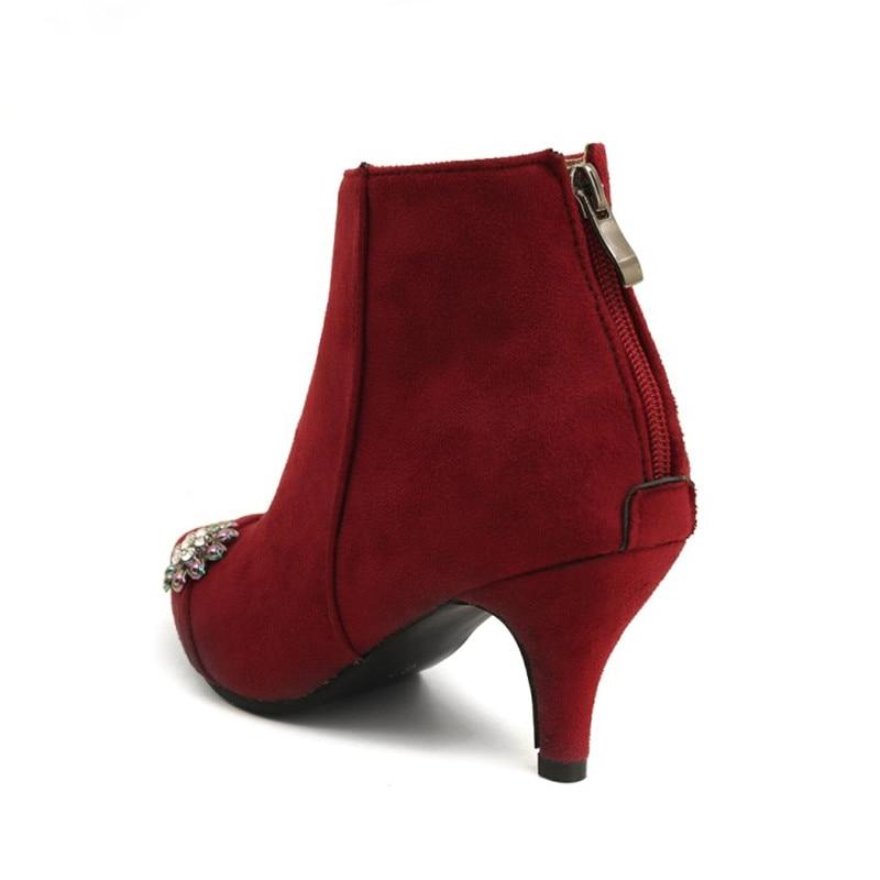 Zapatos Mujer Más Princesa Otoño Alto Flor El Botas 48 Las 2 Mujeres Talón 34 Fina Gamuza 3 Moda 1 Invierno Y Sexy Tacón De Tamaño w7xvr7YZ
