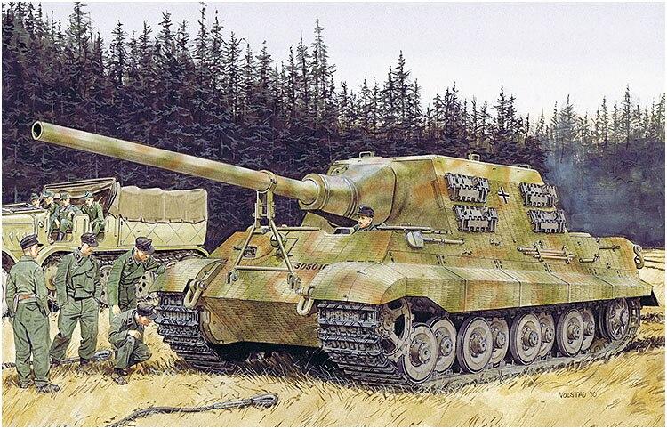 6925 German Hunting Tiger Tank Destroyer Model with Metal Gun Barrel Magic Track model kit