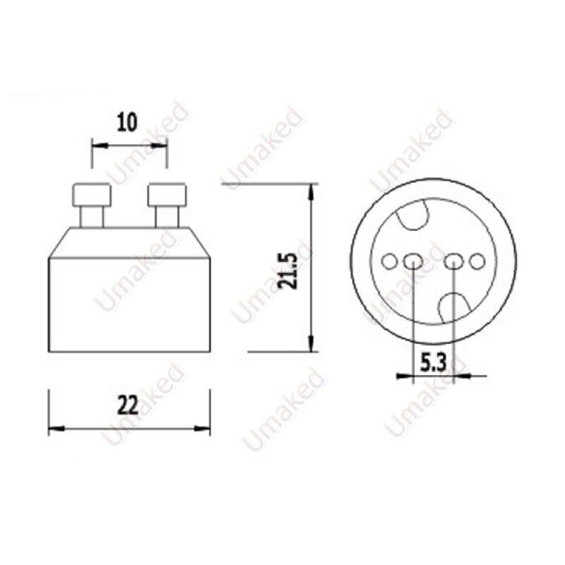 mr16 base do suporte da lampada conversor 05