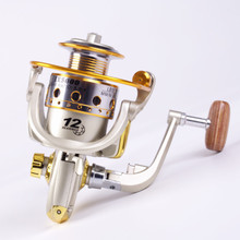 Fishing reel 12-axis full steel line cup throwing rod wheel fishing wheel spinning wheel sea rod reel outside fishing rede pesca